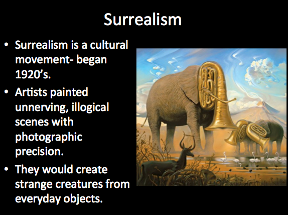an introduction to the history of surrealism Exquisite corpse in surrealist drawing & poetry chrissy has taught secondary english and history and writes exquisite corpse in surrealist drawing & poetry.